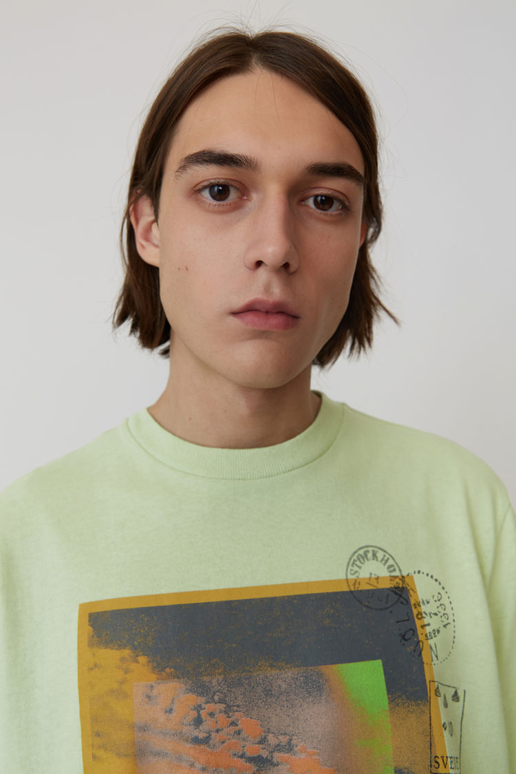 Acne Studios - Printed t-shirt Pale green - 2