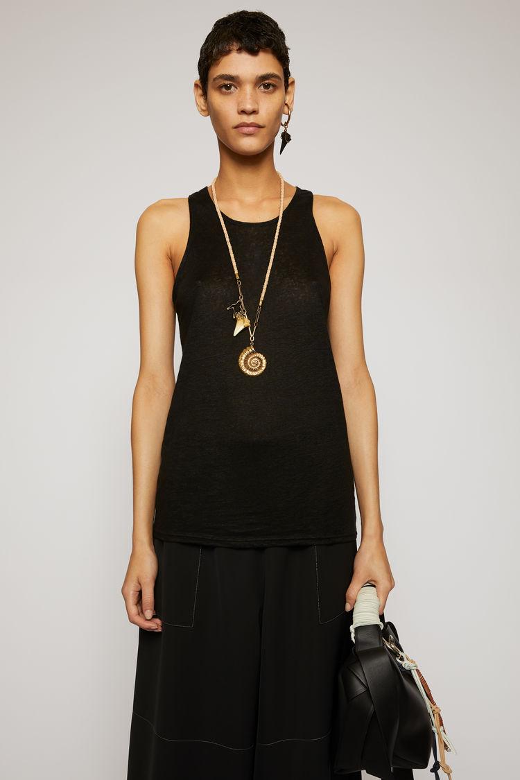 아크네 스튜디오 Acne Studios Sleeveless linen top black