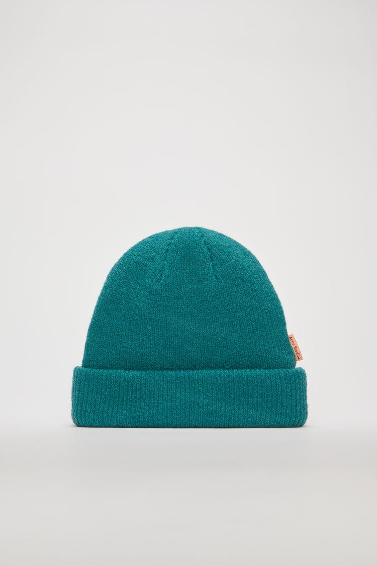 아크네 스튜디오 Acne Studios Ribbed wool beanie turquoise blue