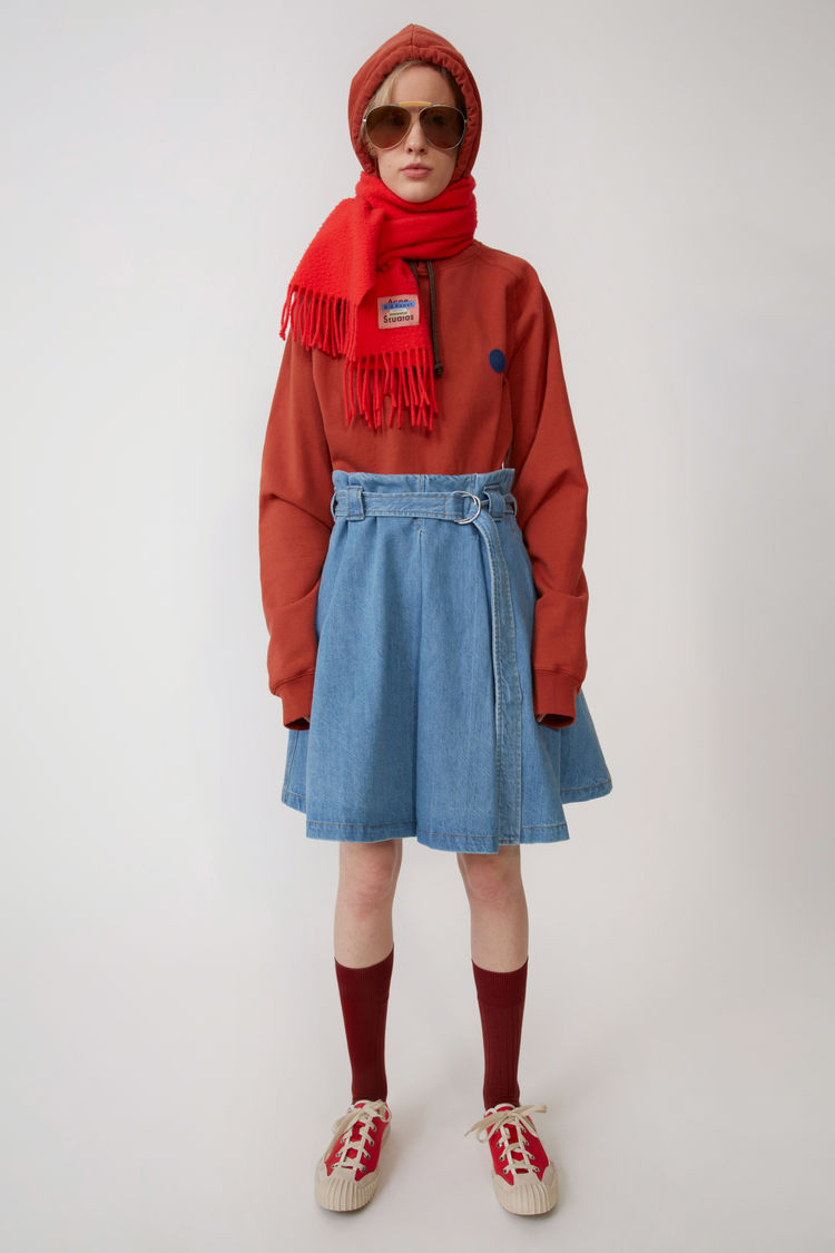 아크네 스튜디오 스커트 Acne Studios Pleated skirt light blue