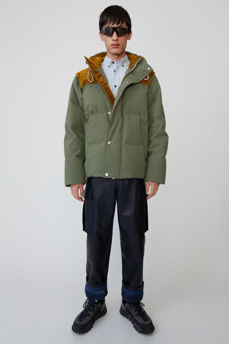 아크네 스튜디오 Acne Studios Hooded down jacket khaki green,Khaki green