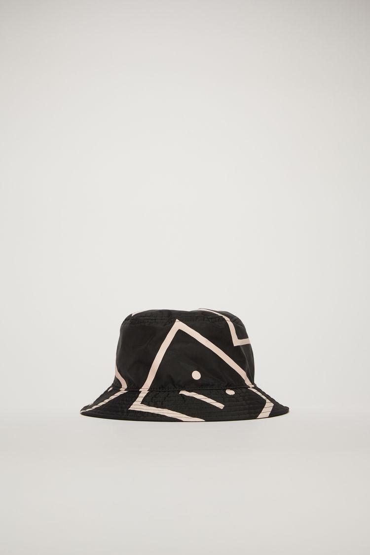 아크네 스튜디오 Acne Studios Face-motif bucket hat black