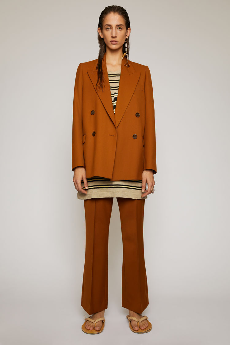 아크네 스튜디오 Acne Studios Double-breasted suit jacket cognac brown