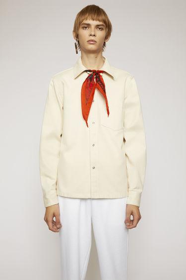 아크네 스튜디오 Acne Studios Cotton twill shirt ecru beige