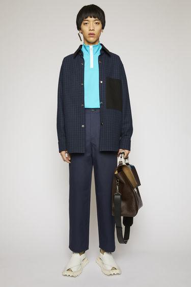 아크네 스튜디오 Acne Studios Tapered fit cotton chinos dark blue