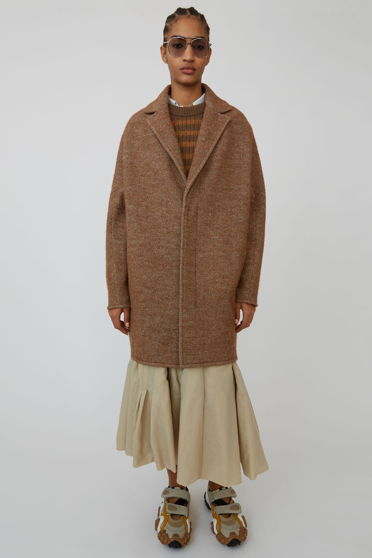 Acne Studios - Cocoon jacket Camel brown - 9