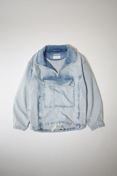 아크네 스튜디오 Acne Studios Denim half-zip jacket light blue