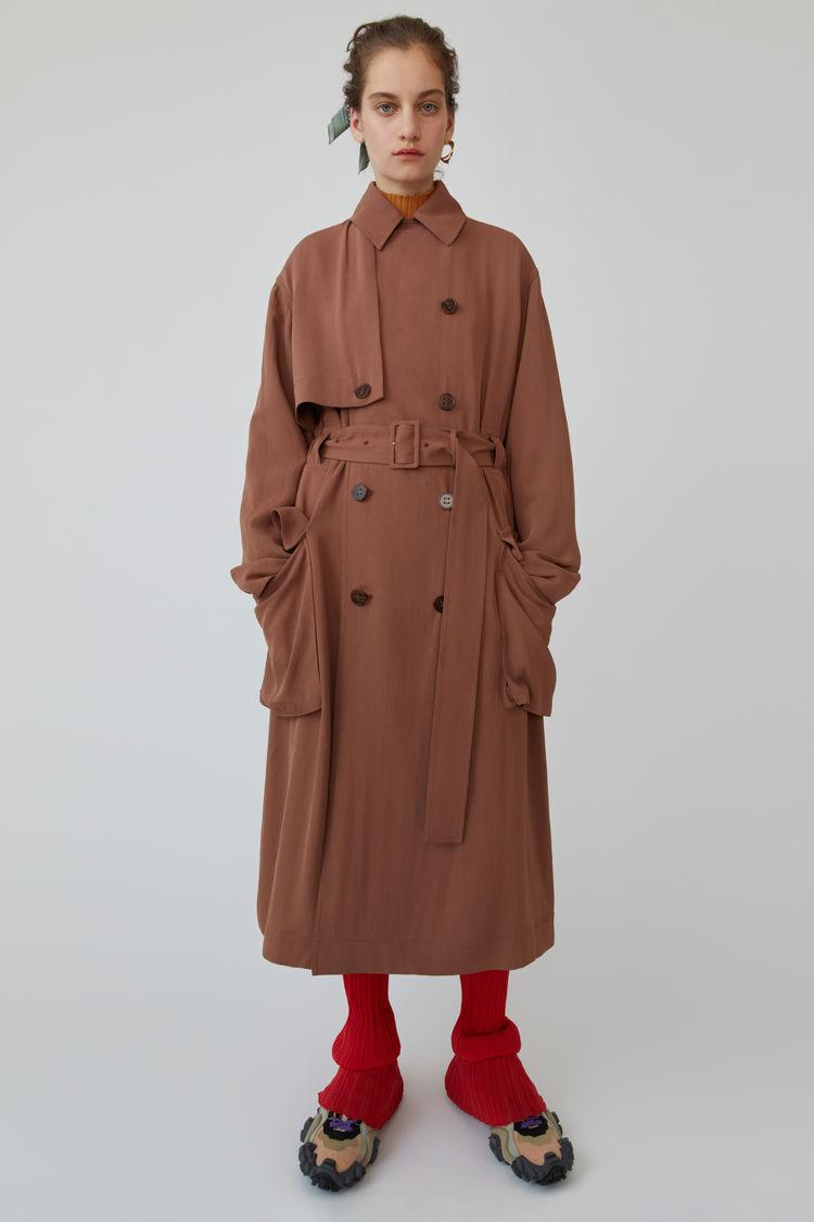 아크네 스튜디오 롱 트렌치 코트 Acne Studios Long trench coat dusty pink