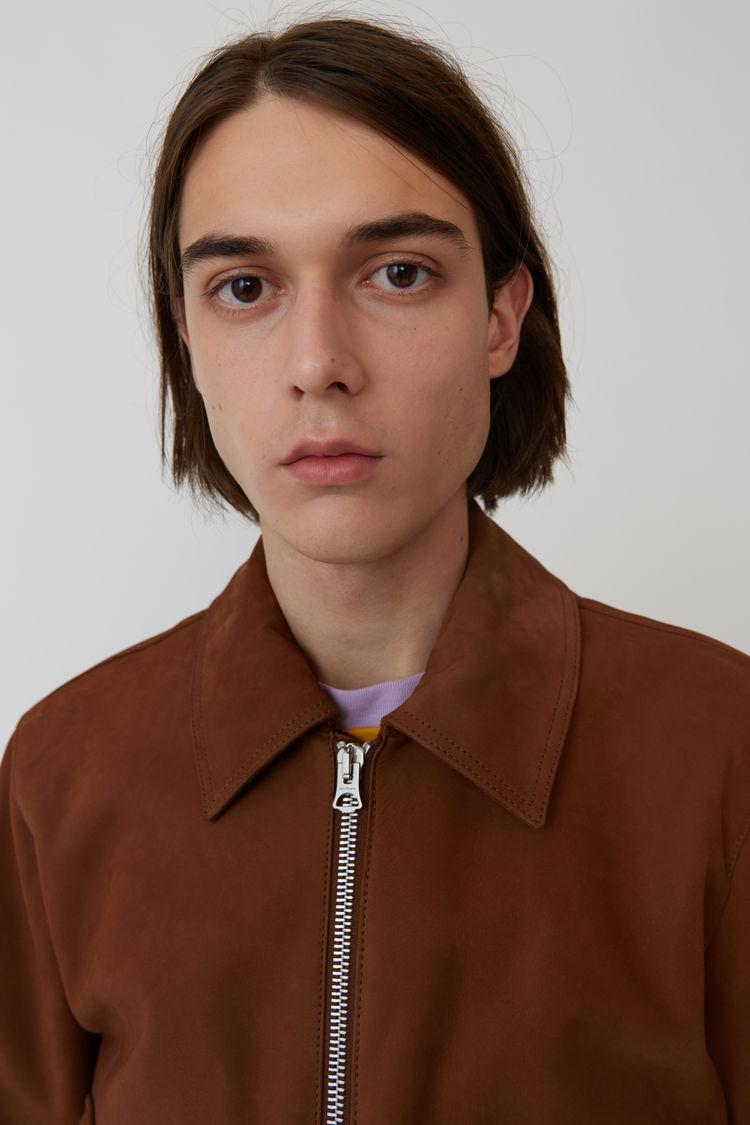 Acne Studios - Short leather jacket Cognac brown - 2