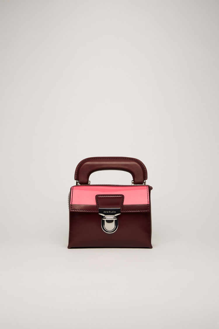 아크네 스튜디오 사첼백 미니 Acne Studios Mini leather satchel burgundy