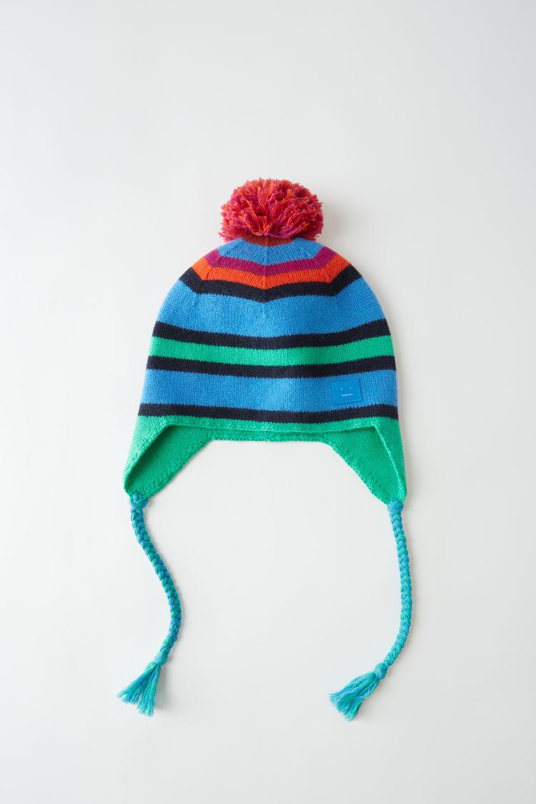 아크네 스튜디오 Acne Studios Knit ear flap hat blue multicolor