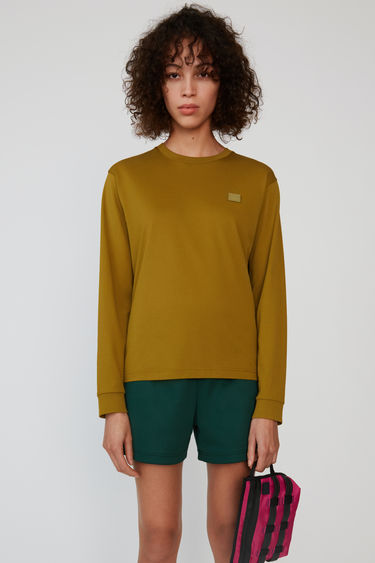 아크네 스튜디오 Acne Studios Long sleeve crew neck moss green