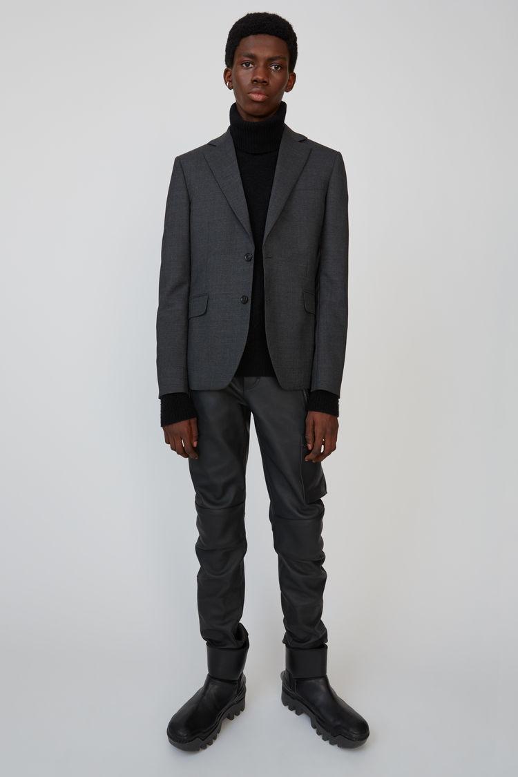 아크네 스튜디오 Acne Studios Wool suit jacket dark grey melange