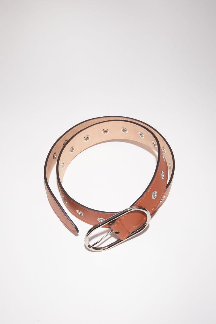 아크네 스튜디오 벨트 Acne Studios Leather eyelet belt almond brown