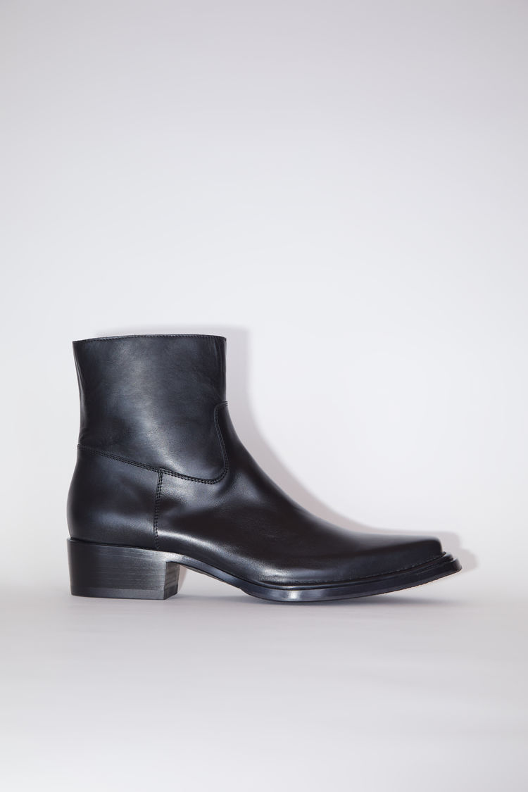 아크네 스튜디오 Acne Studios Square-toe leather boots black