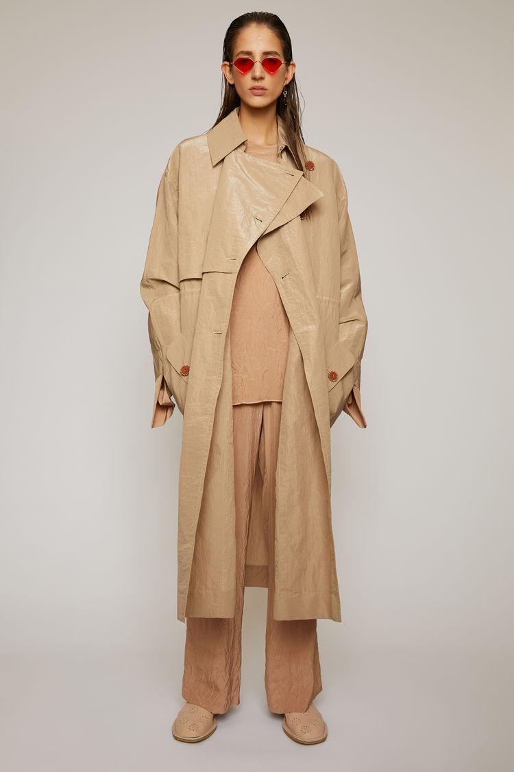 아크네 스튜디오 Acne Studios Technical-cotton trench coat brown