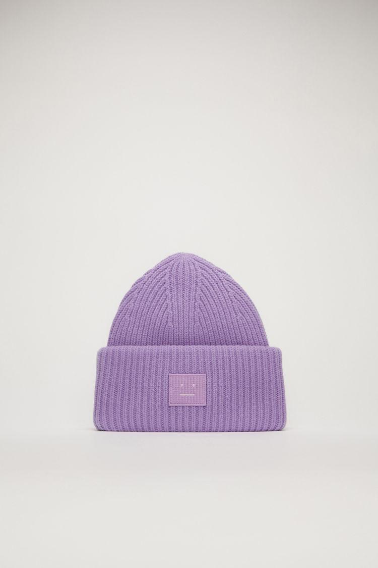 아크네 스튜디오 Acne Studios Face-patch beanie lavender purple