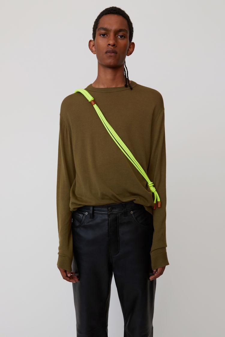 Acne Studios - Classic sweater Olive green - 1