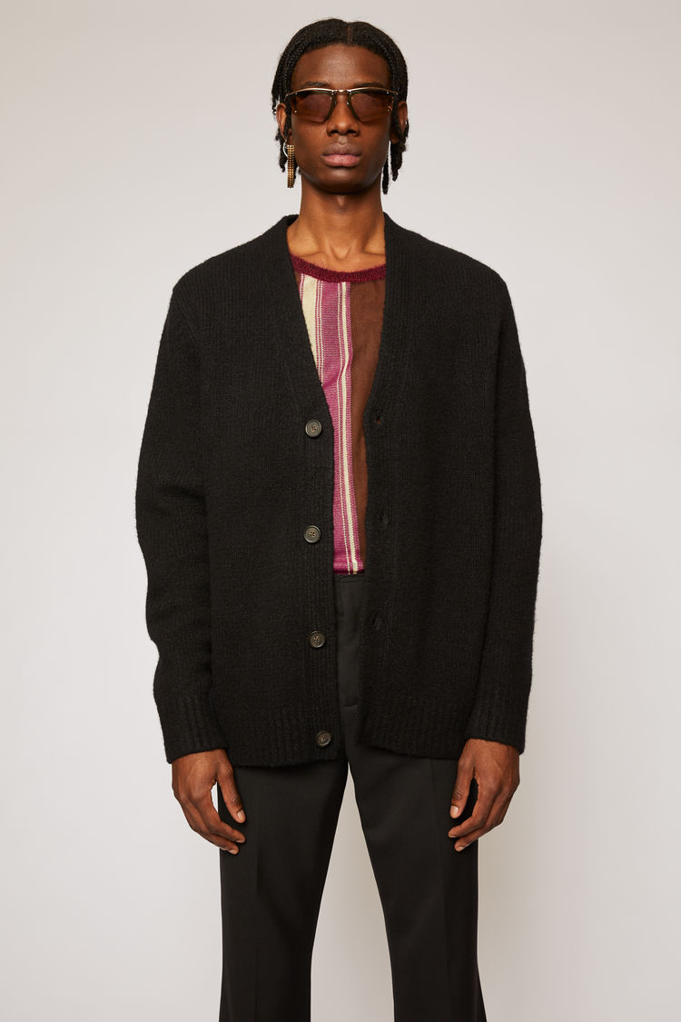 아크네 스튜디오 Acne Studios Relaxed cardigan all black