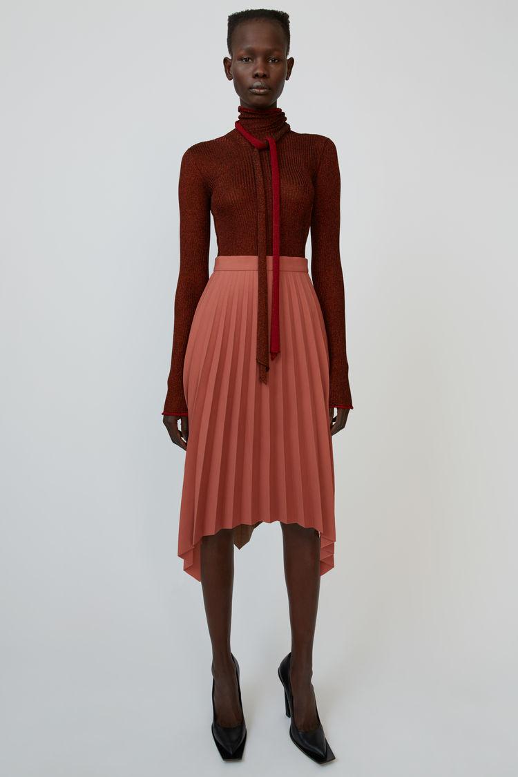 아크네 스튜디오 Acne Studios Asymmetrical skirt coral red