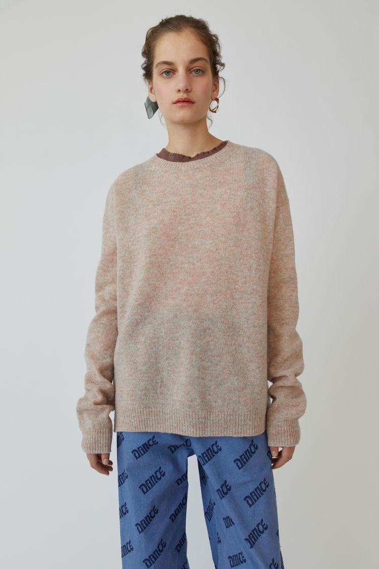 아크네 스튜디오 스웨터 Acne Studios Heathered sweater dusty pink