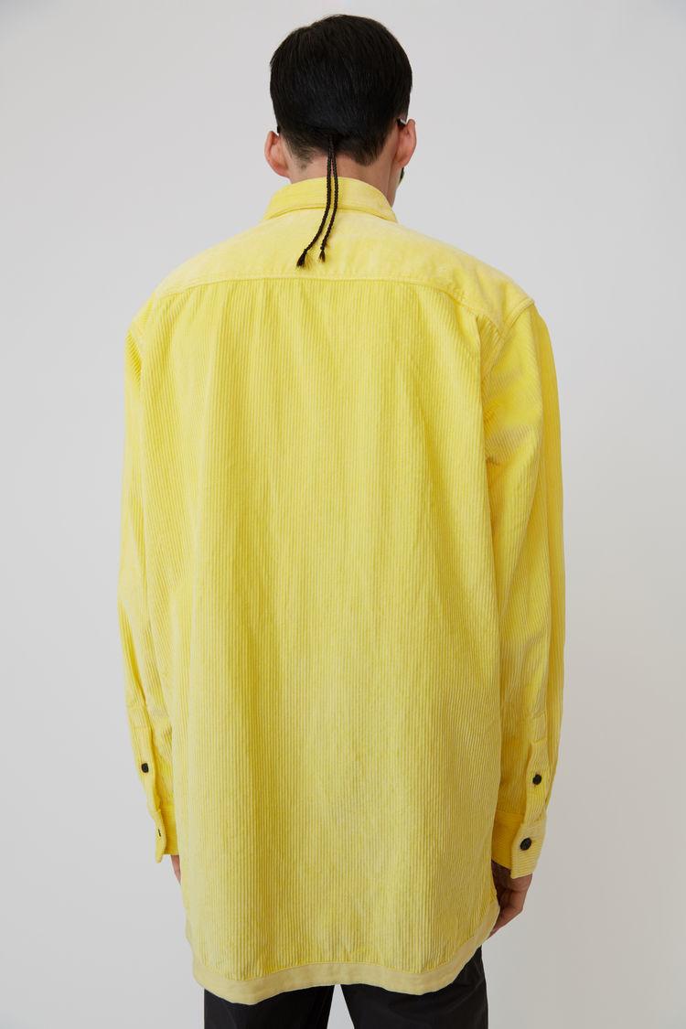 Acne Studios - Corduroy shirt Light yellow - 3