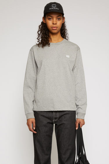 아크네 스튜디오 Acne Studios Long sleeve crew neck light grey melange