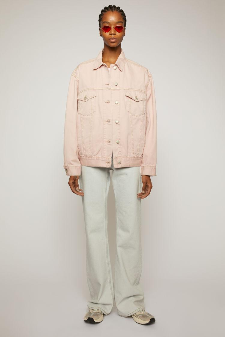 아크네 스튜디오 Acne Studios Relaxed-fit denim jacket powder pink