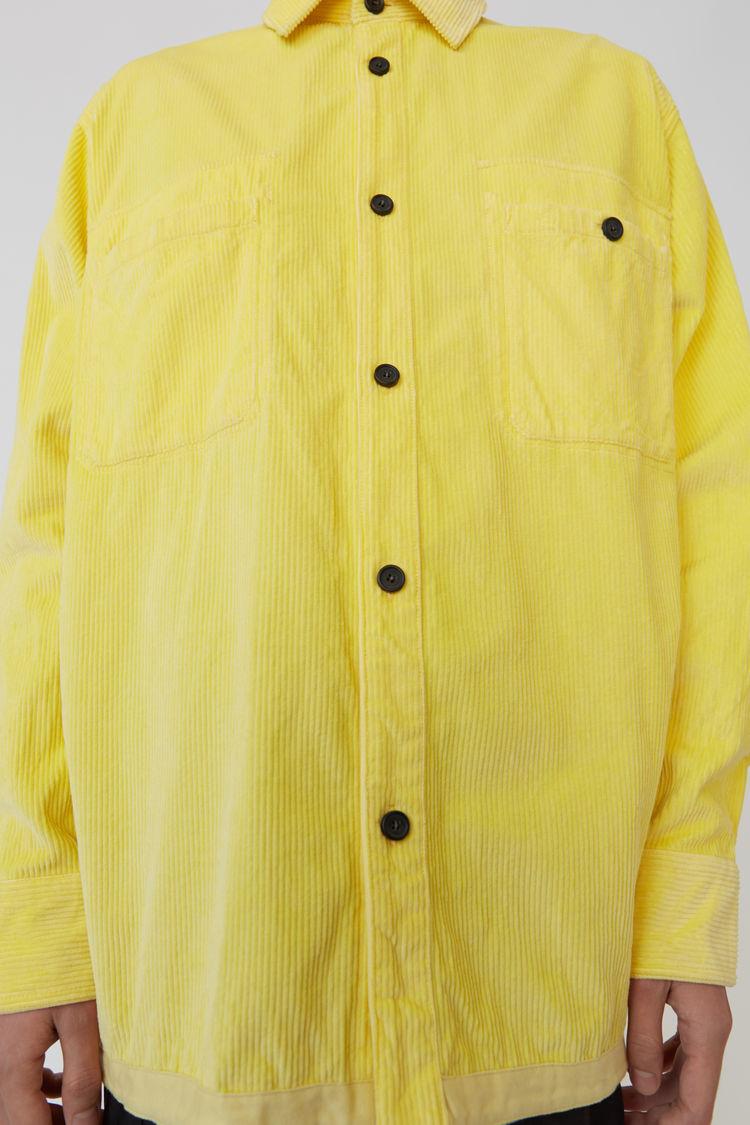 Acne Studios - Corduroy shirt Light yellow - 5