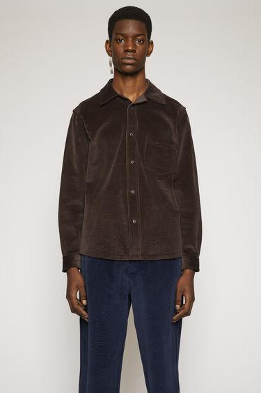 아크네 스튜디오 Acne Studios Corduroy shirt coffee brown