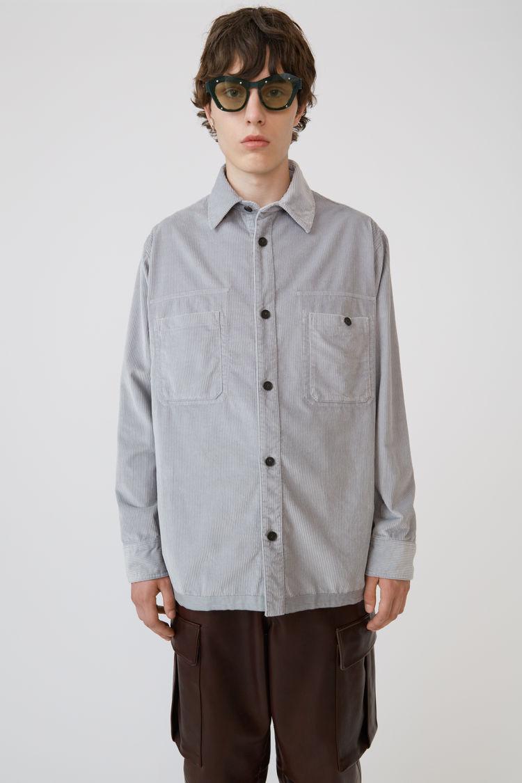 Acne Studios - Corduroy shirt Light grey - 1