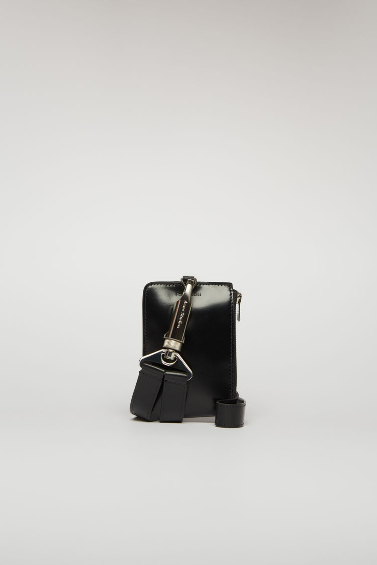 아크네 스튜디오 Acne Studios Lanyard zip wallet black