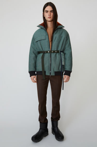 아크네 스튜디오 Acne Studios Reflective padded jacket pastel green