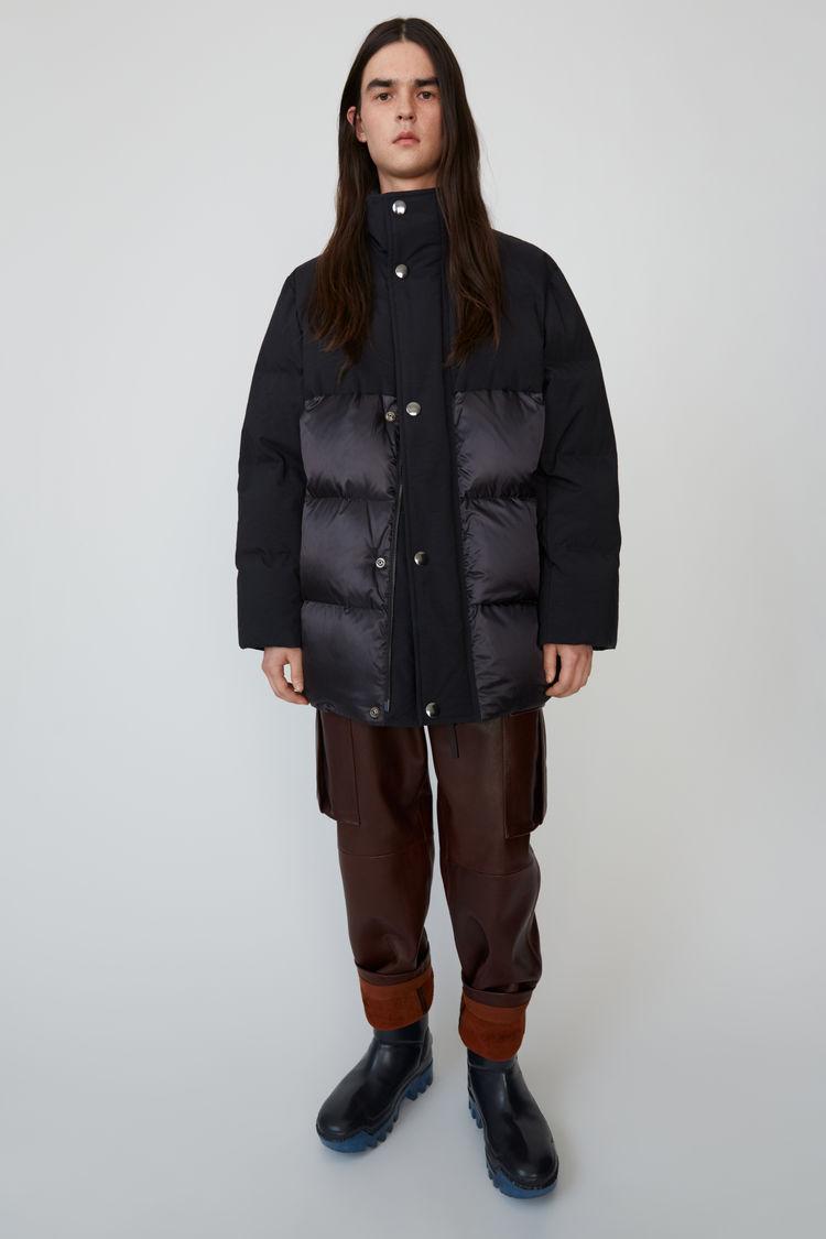 아크네 스튜디오 Acne Studios Contrast-panel padded coat black,Black