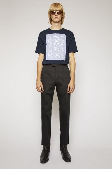 아크네 스튜디오 Acne Studios Slim-fit cotton trousers black
