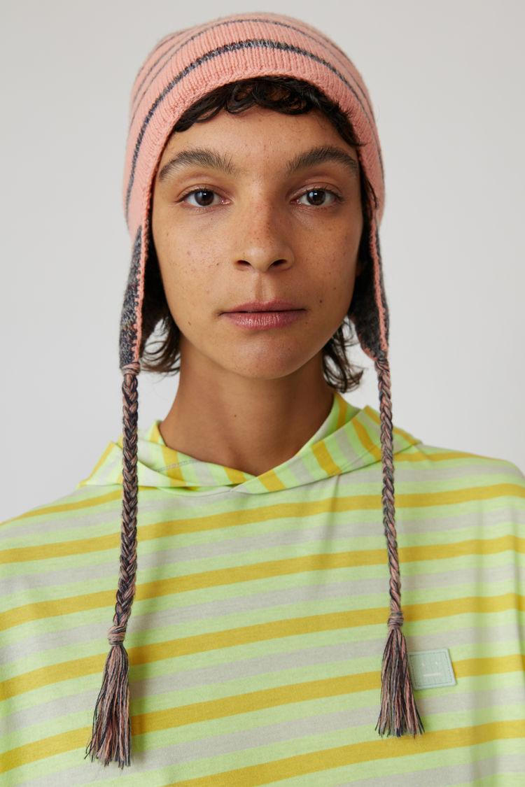Acne Studios - Kapuzen-T-Shirt mit langem Arm Pastellgrün - 2