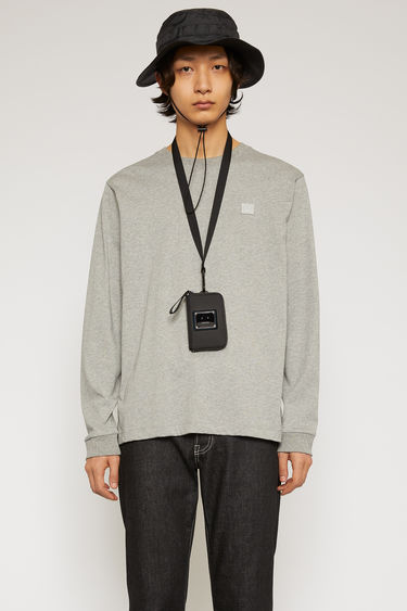 아크네 스튜디오 크루넥 티셔츠 Acne Studios Long sleeve crew neck light grey melange