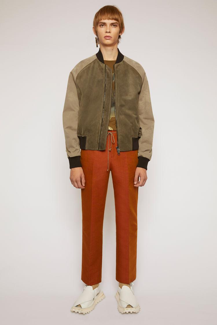 아크네 스튜디오 Acne Studios Suede bomber jacket khaki green