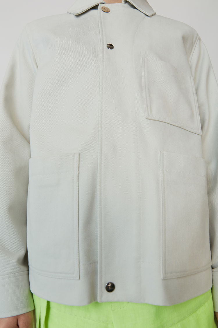 Acne Studios - Cotton jacket Cold white - 5