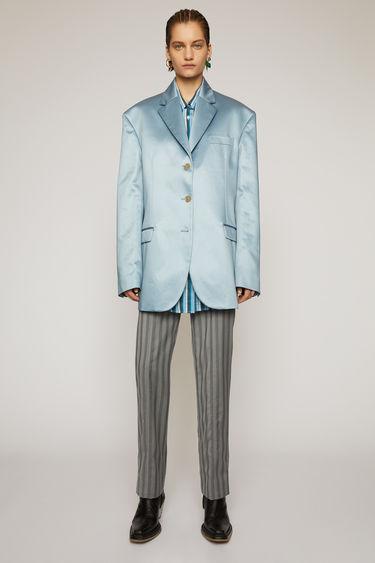 아크네 스튜디오 Acne Studios Satin suit jacket powder blue