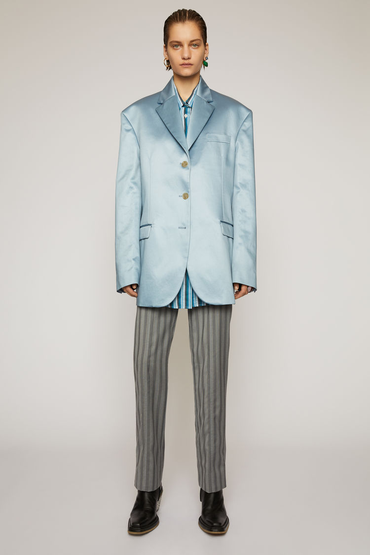 아크네 스튜디오 Acne Studios Satin suit jacket powder blue