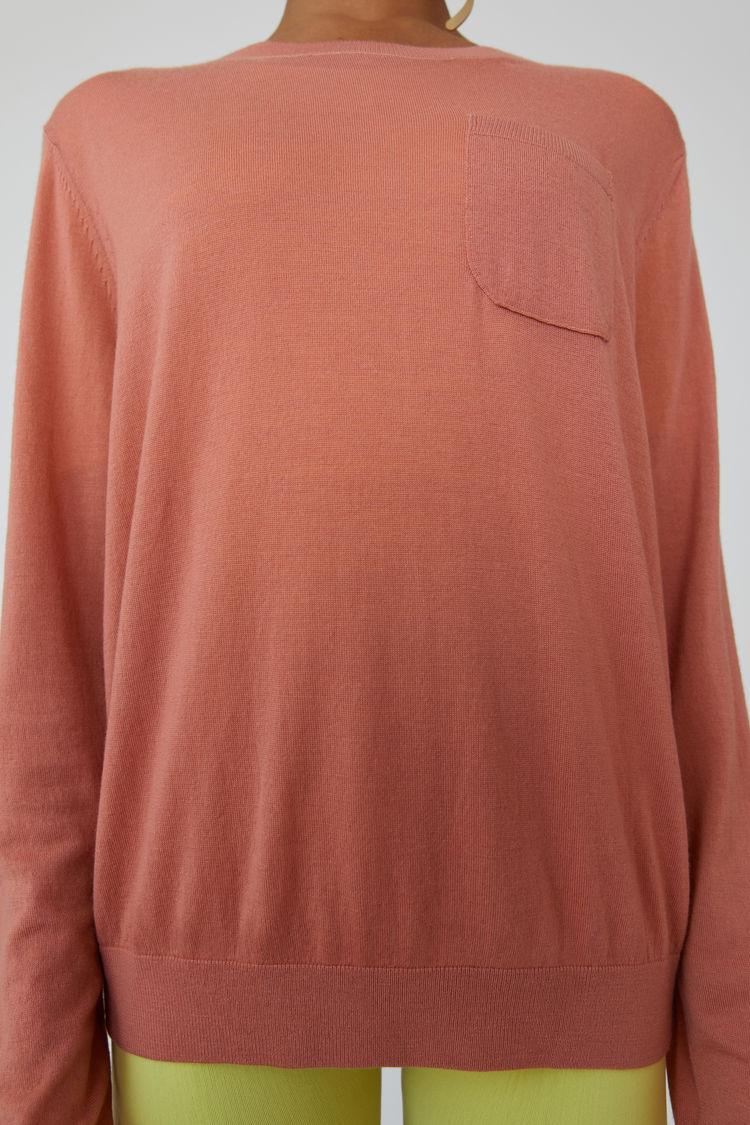 Acne Studios - Lightweight sweater Dusty pink - 5