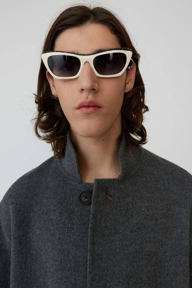 Acne Studios - Slim Cashmere blend coat Medium grey melange - 2