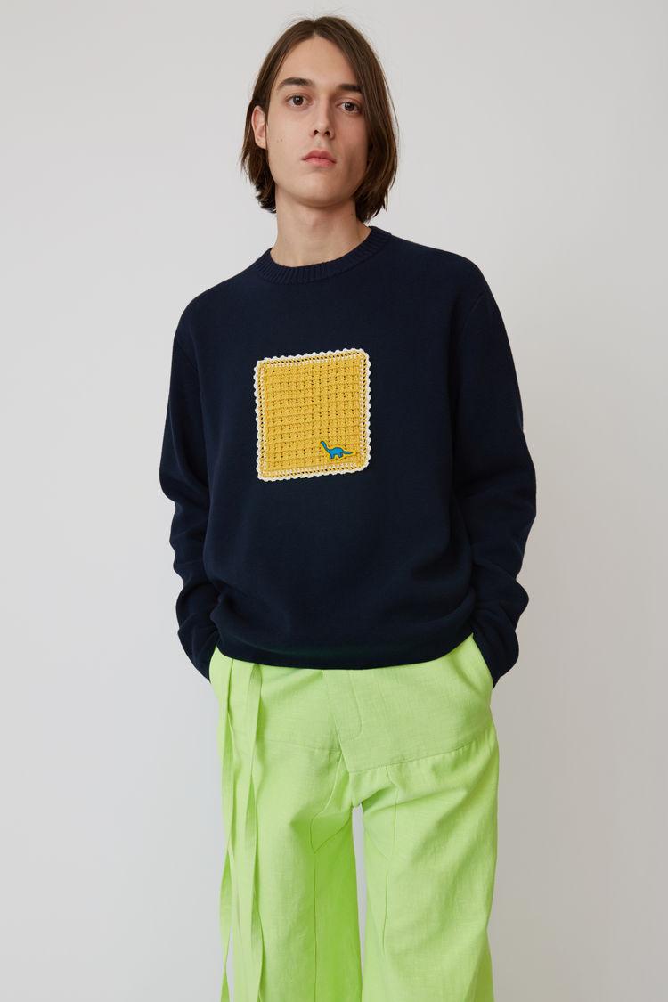 Acne Studios - Applique sweater Navy blue - 1