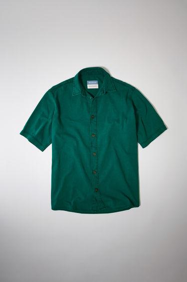 아크네 스튜디오 Acne Studios Short-sleeved denim shirt jade green