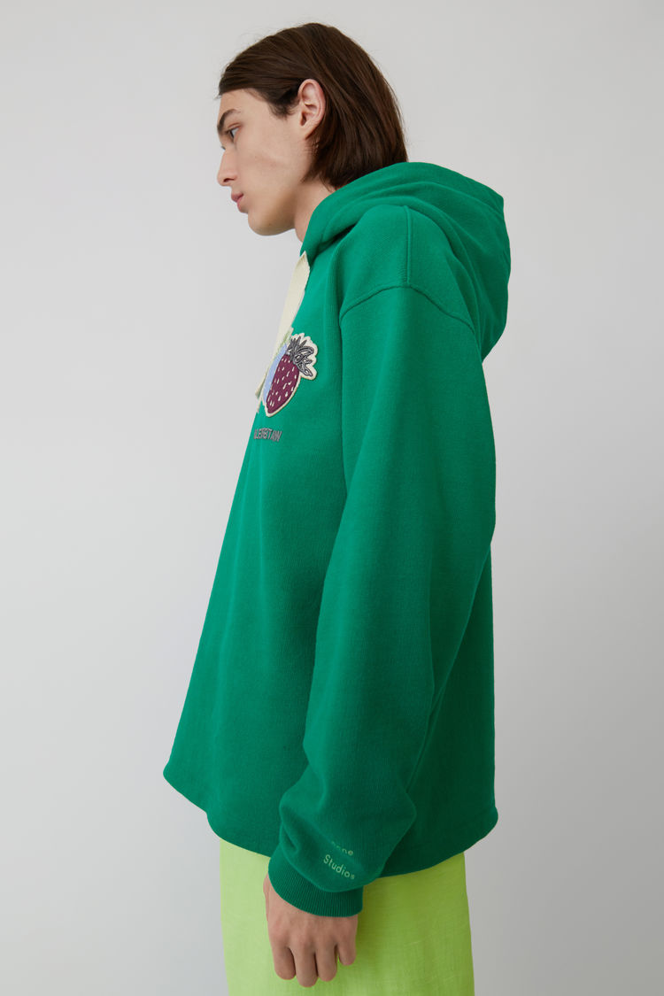Acne Studios - Kapuzen-Sweatshirt Smaragdgrün - 4
