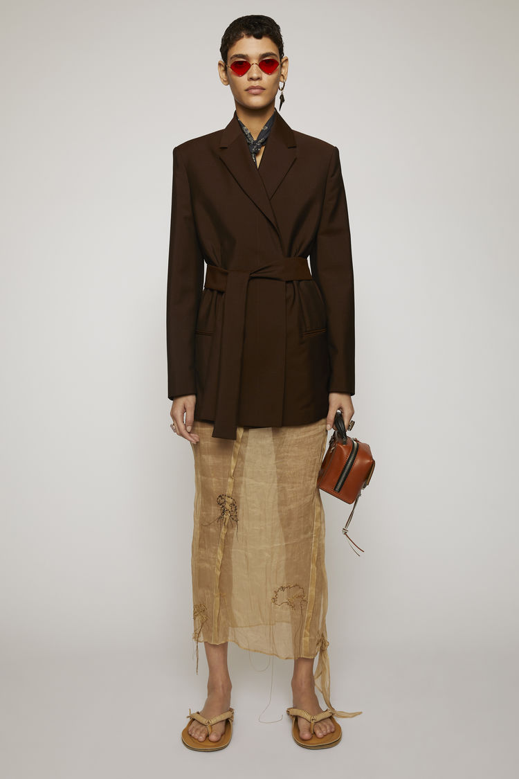 아크네 스튜디오 Acne Studios Double-breasted suit jacket chocolate brown