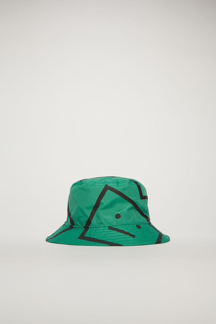 아크네 스튜디오 Acne Studios Face-motif bucket hat emerald green