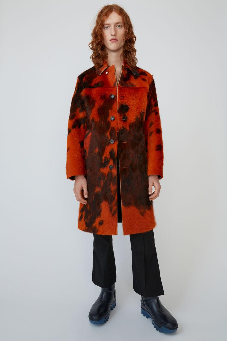 아크네 스튜디오 Acne Studios Cowhide coat orange/brown