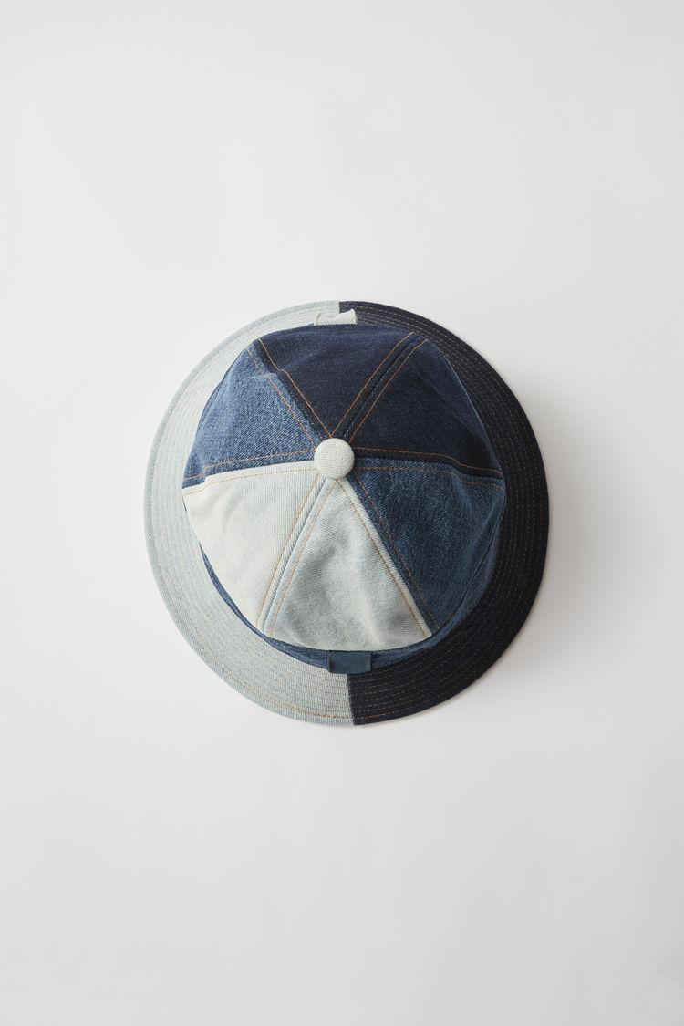 아크네 스튜디오 Acne Studios Patchwork denim hat indigo blue